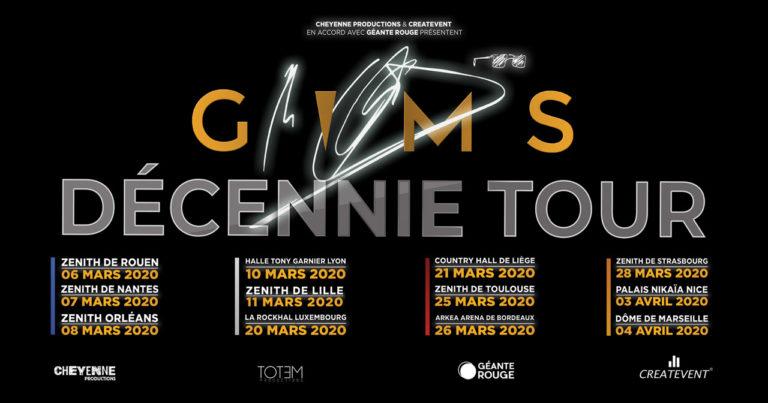 GIMS dates de tournée