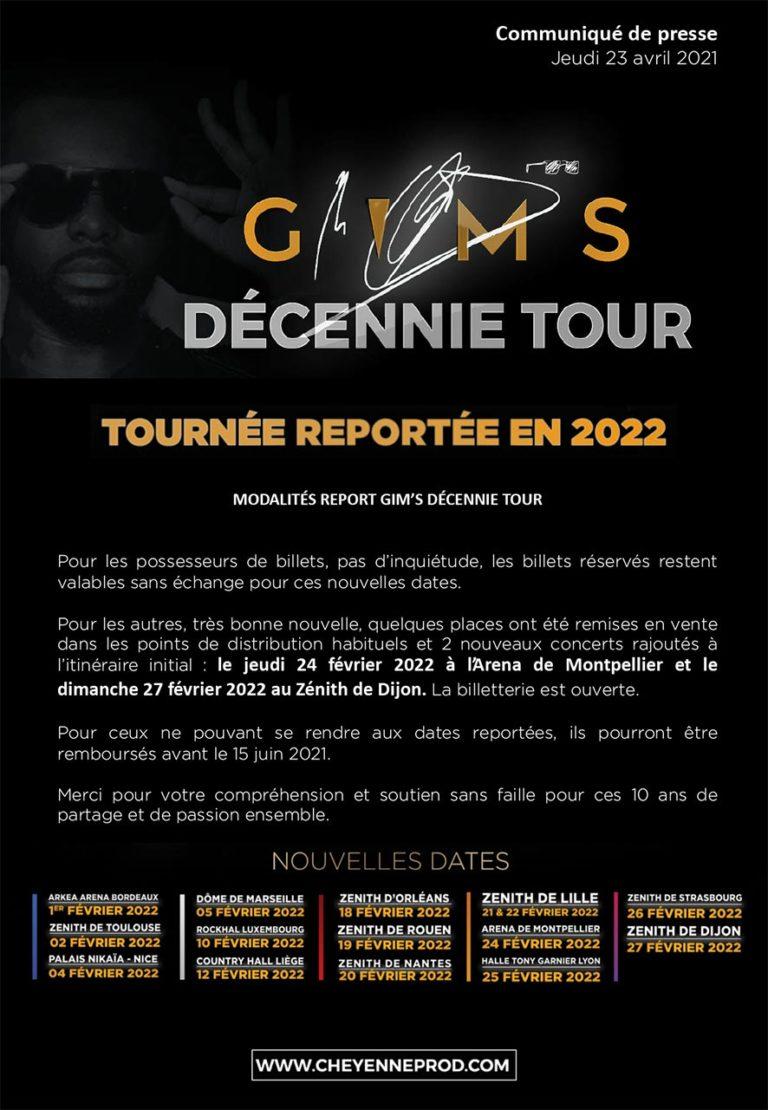 GIMS Décennie Tour - Communiqué de presse